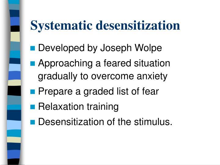 Systematic desensitization