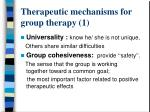 therapeutic mechanisms for group therapy 1