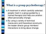 what is a group psychotherapy