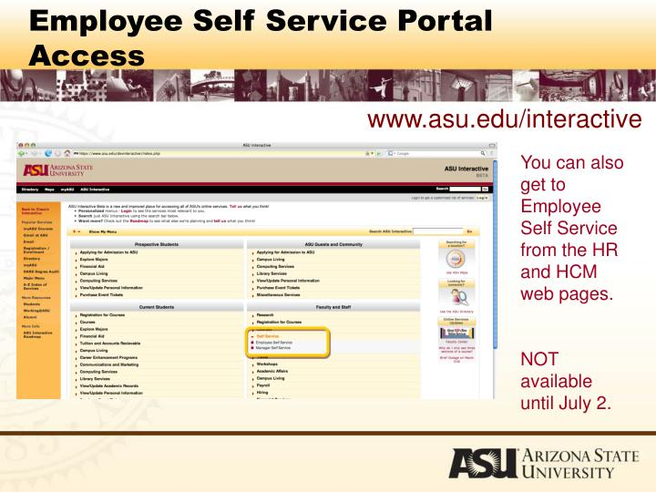 Employee Self Service Portal Access