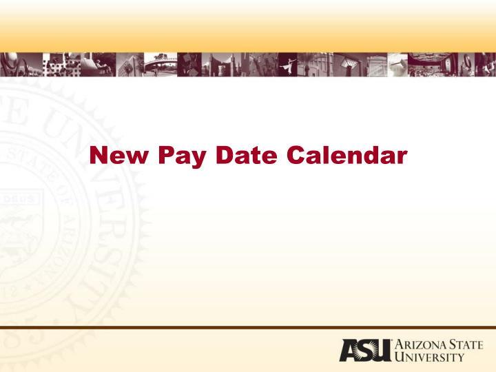 New Pay Date Calendar