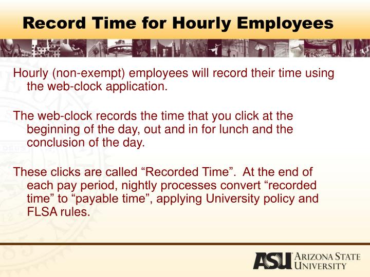 Record Time for Hourly Employees