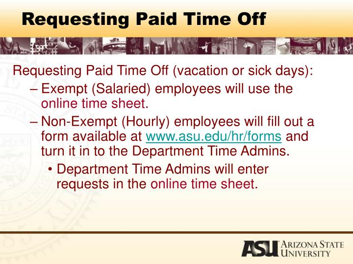 Requesting Paid Time Off