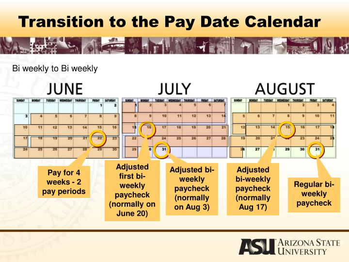 Transition to the Pay Date Calendar