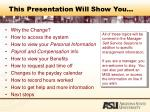 this presentation will show you
