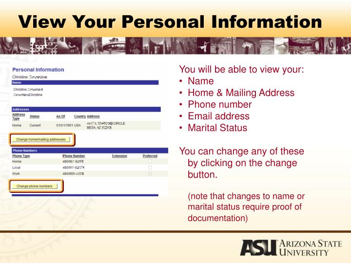 View Your Personal Information