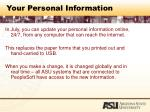 your personal information