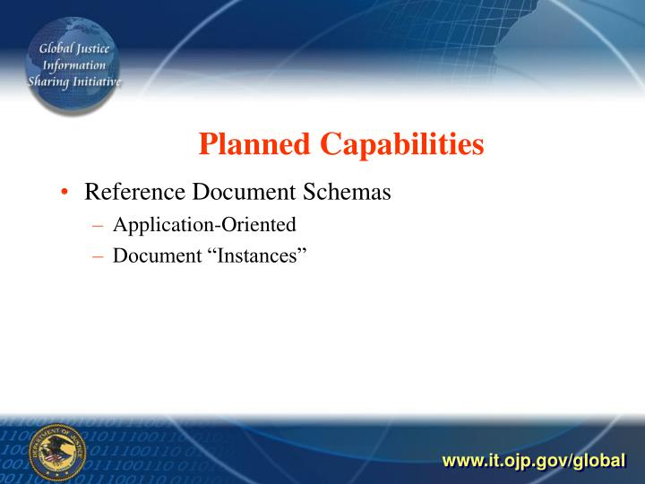 Planned Capabilities