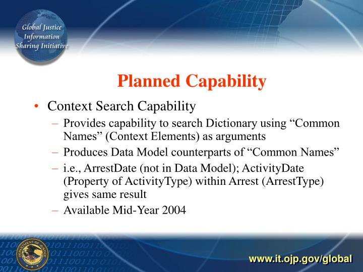 Planned Capability