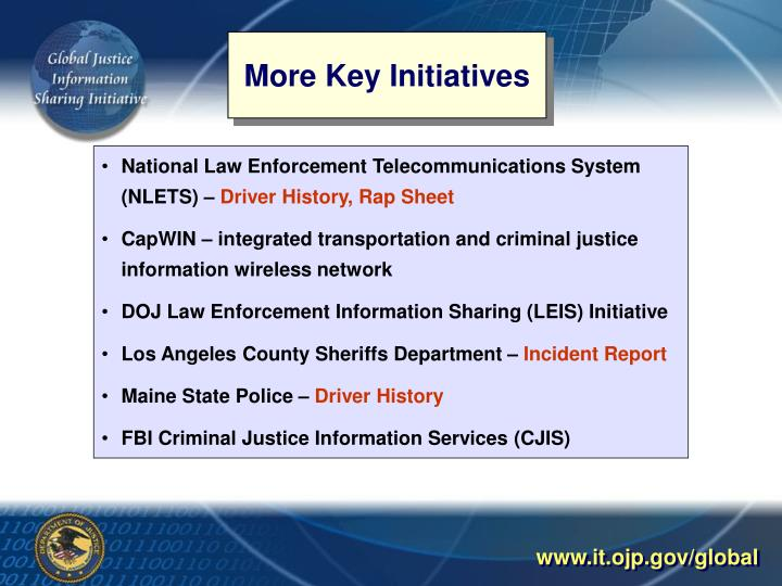 More Key Initiatives