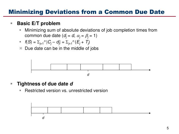 Minimizing Deviations from a Common Due Date