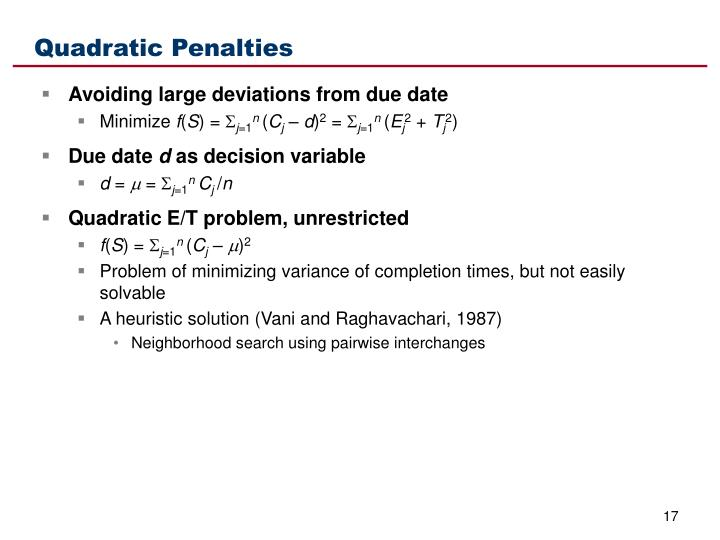Quadratic Penalties