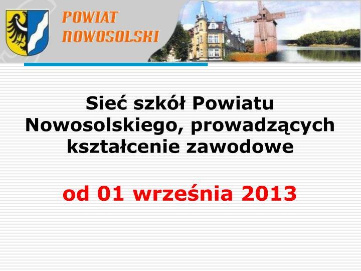 Sieć szkół Powiatu Nowosolskiego, prowadzących kształcenie zawodowe