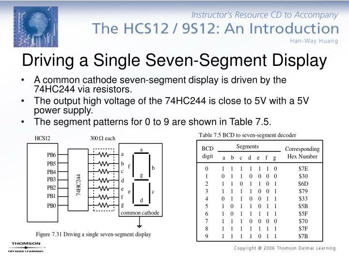 Driving a Single Seven-Segment Display