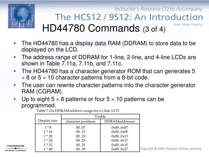 HD44780 Commands