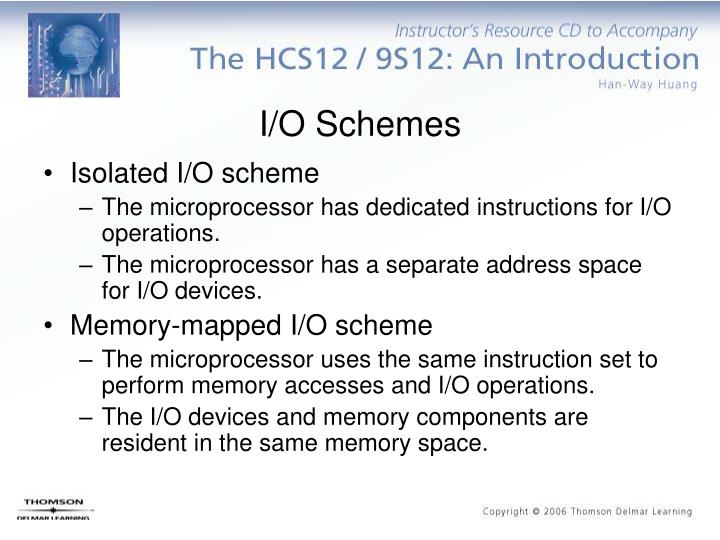 I/O Schemes