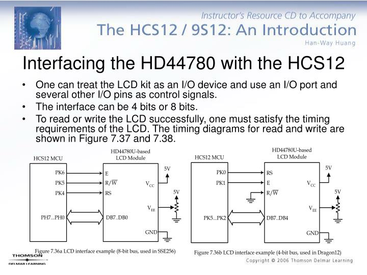 Interfacing the HD44780 with the HCS12