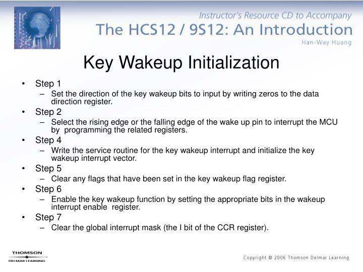Key Wakeup Initialization