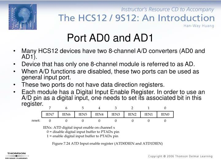 Port AD0 and AD1