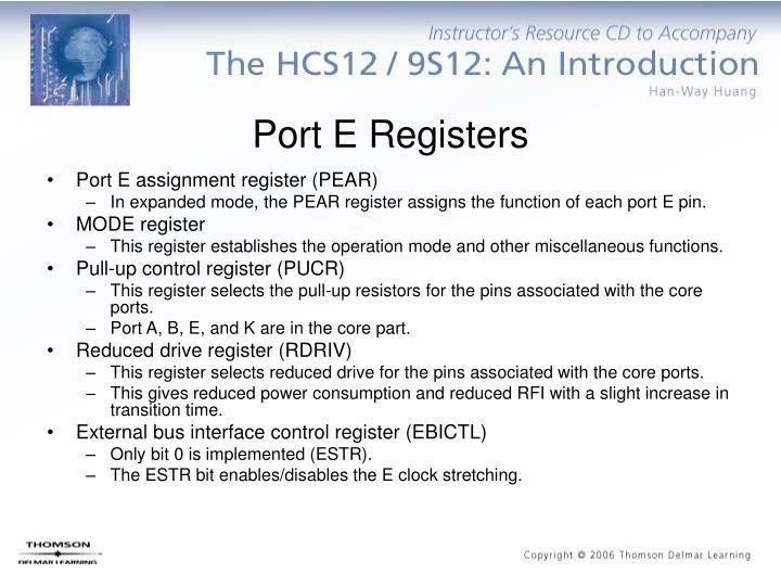 Port E Registers