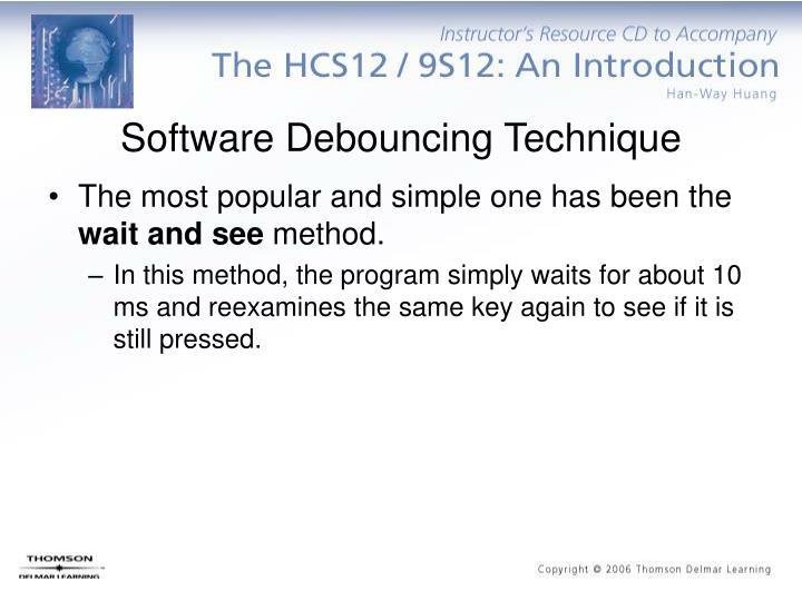 Software Debouncing Technique