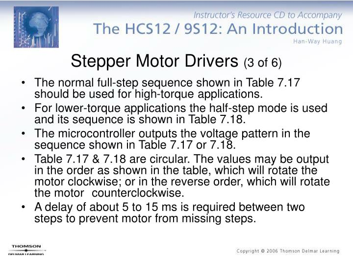 Stepper Motor Drivers
