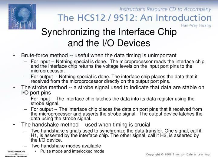 Synchronizing the Interface Chip