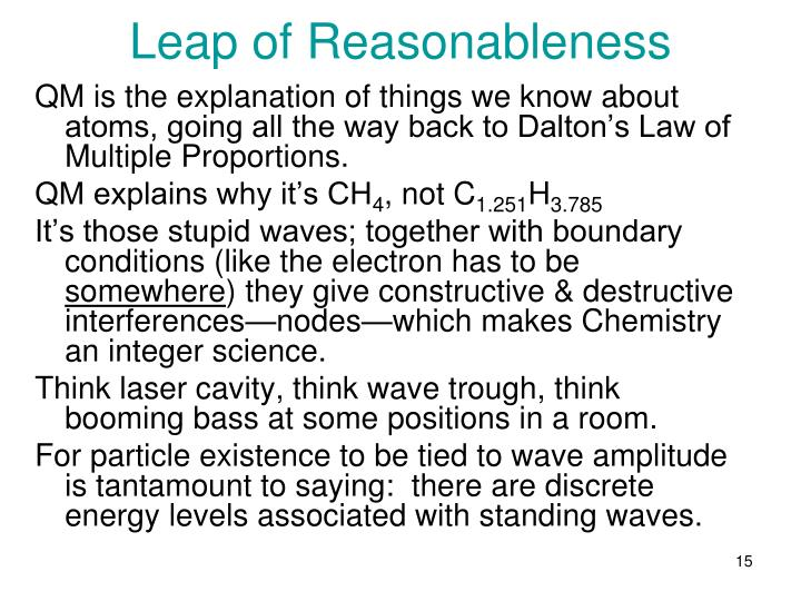 Leap of Reasonableness