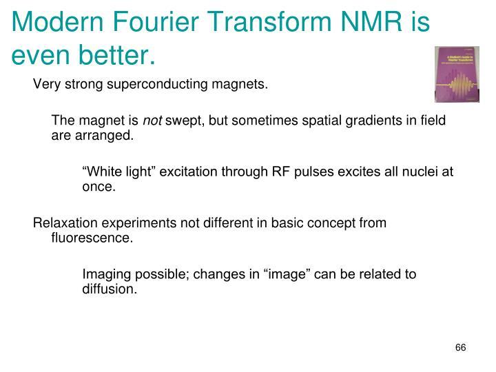 Modern Fourier Transform NMR is even better.