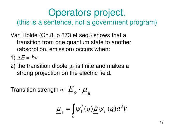 Operators project.