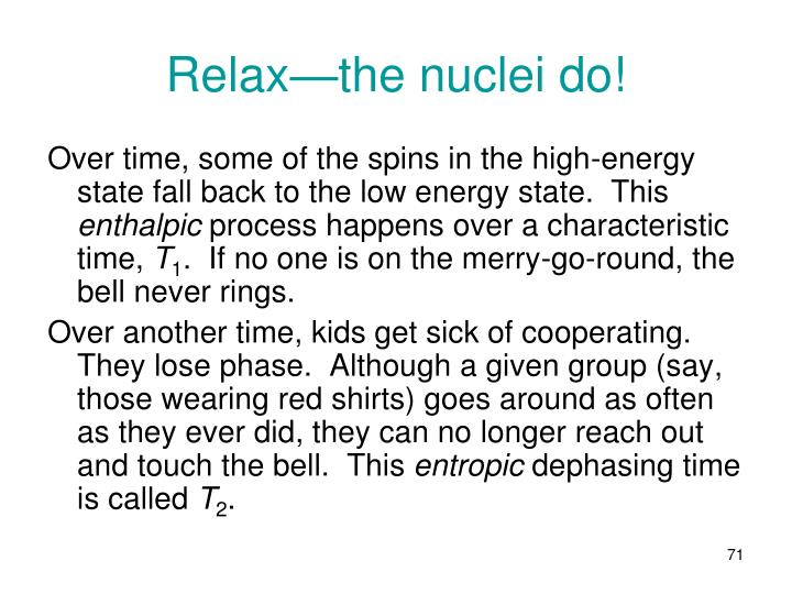 Relax—the nuclei do!