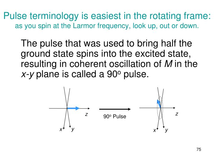 Pulse terminology is easiest in the rotating frame:
