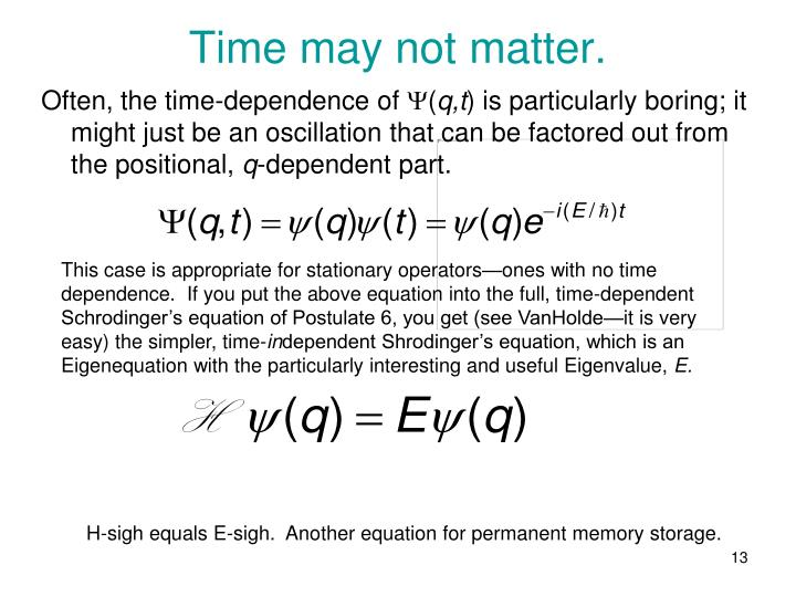 Time may not matter.