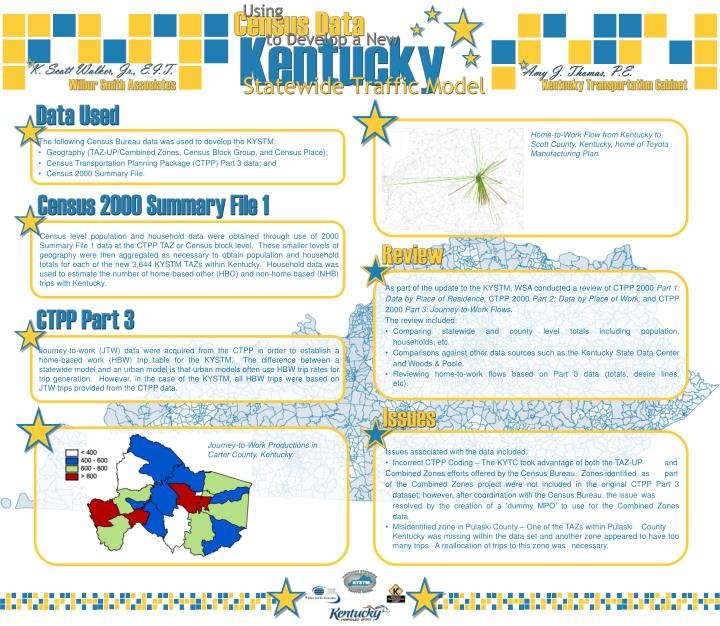 Home-to-Work Flow from Kentucky to Scott County, Kentucky, home of Toyota Manufacturing Plan.