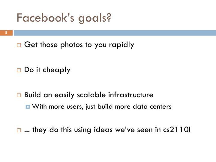 Facebook's goals?