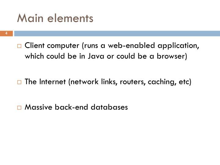 Main elements
