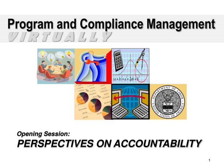 Program and compliance management