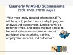 quarterly wiasrd submissions tegl 17 09 3 10 10 page 2