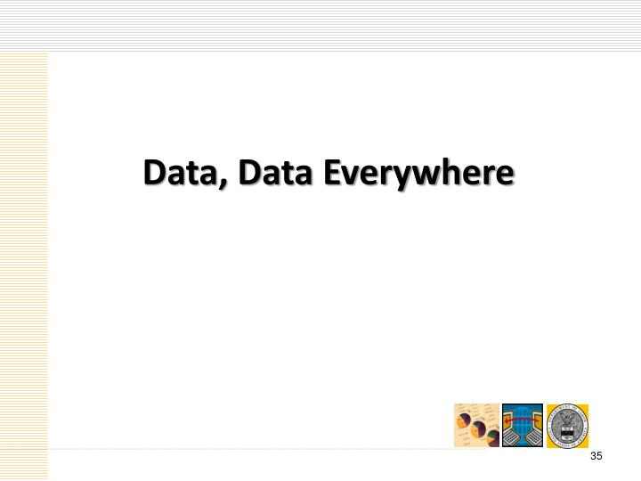 Data, Data Everywhere