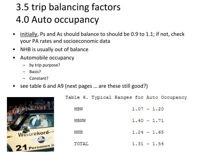3.5 trip balancing factors