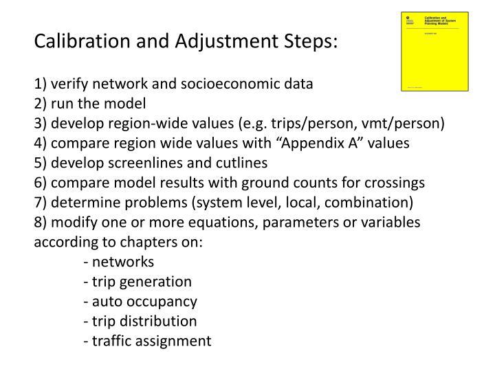 Calibration and Adjustment Steps:
