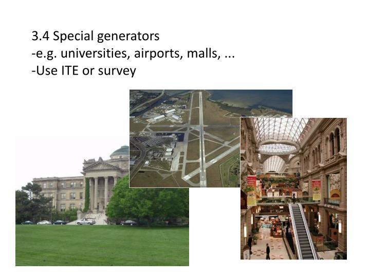 3.4 Special generators