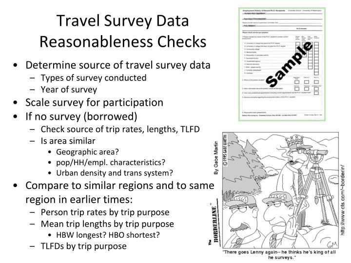 Travel Survey Data