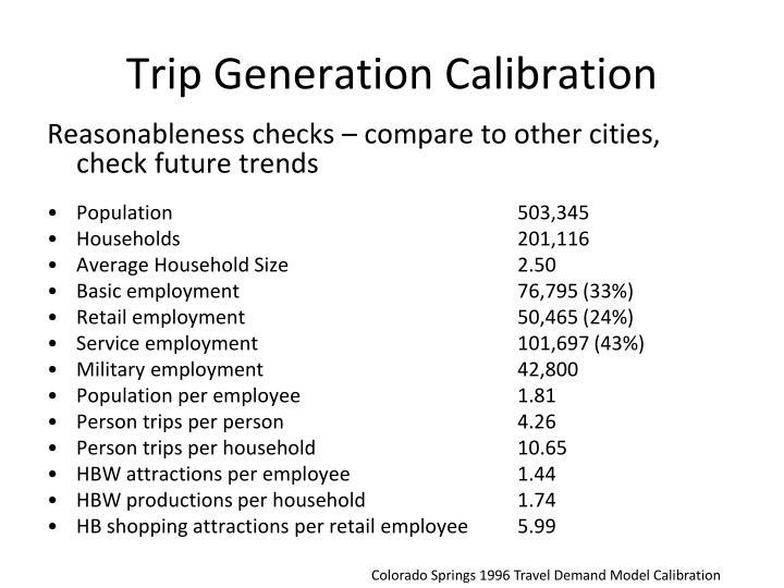 Trip Generation Calibration