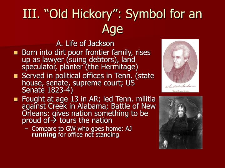 "III. ""Old Hickory"": Symbol for an Age"