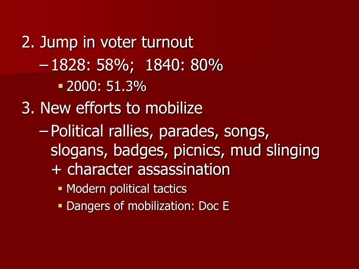 2. Jump in voter turnout