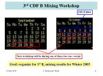 3 rd cdf b mixing workshop