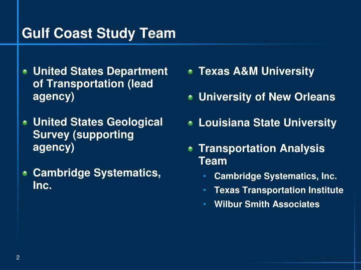 Gulf Coast Study Team
