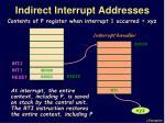 indirect interrupt addresses