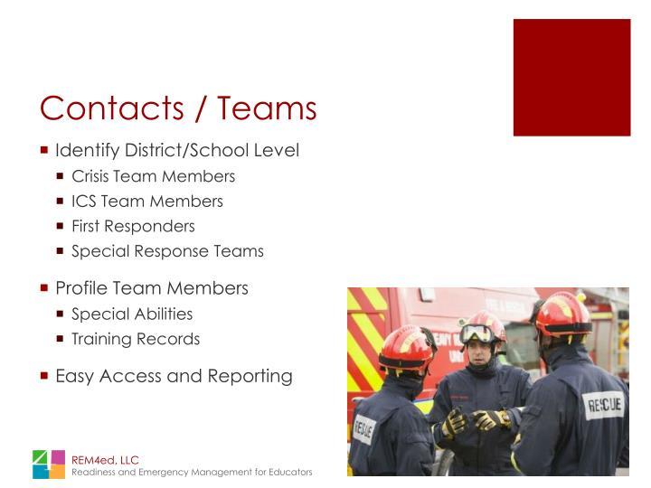 Contacts / Teams